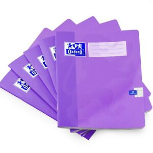 Oxford A5 School Exercise Book - 8mm Lined - 48 Pages - Purple - Pack of 10