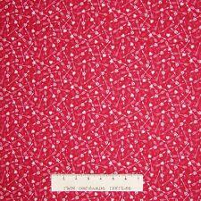 Valentine's Day Fabric - Dear Heart Cupid's Arrow Red - Studio E YARD