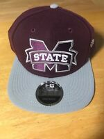 New Era Mississippi State Bulldogs Maroon 9FIFTY Adjustable Snapback Cap Hat MSU