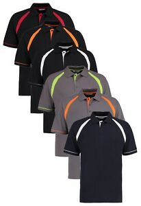 Kustom Kit Chêne Hill Contraste Bordure Coton Polo SPORTS T-SHIRT S - XXL
