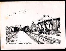 DUN-SUR-AURON (18) TRAIN TACOT en GARE illustré par CLAUDE