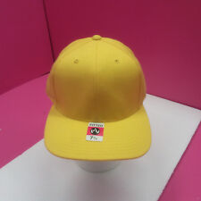 1 YELLOW BASEBALL HAT  FITTED 7 3/4  80% ACRYLIC 20% WOOL  (Y4)