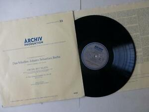 Bach Organ Works Choral Nos 24- 45 Vinyl LP Archiv Produktion APM 14 022 1950-52