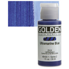 Golden® Fluid Acrylics 1oz. Ultramarine Blue - 1 oz 24001 Ser 2 New