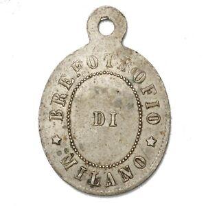 ITALIA MILANO - Brefotrofio Di Milano - Medaglietta anno 1884 contromarcata 381