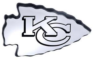 Kansas City Chiefs NFL Car Truck Automotive Grill Emblem Chrome Finish F3D15L