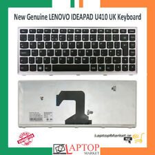 Lenovo IdeaPad U410 UK Keyboard T3C1-UKE 11S25208745 25208745 with Silver Frame