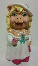 "Vintage 80""s Chalkware Muppets Miss Piggy Coin Bank 18"""