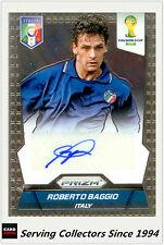 2014 Panini FIFA World Cup Soccer Signature Card Roberto Baggio (Italy)
