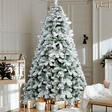 Jingle Jollys Snowy Christmas Tree 2.4m 8ft Xmas Decorations 859 Tips