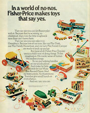Fisher-Price Toys Family Camper HOUSEBOAT Play Desk MUSIC BOX 1973 Print Ad