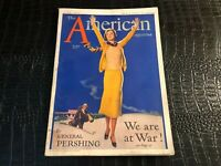 JUNE 1932 AMERICAN  magazine Great ART DECO cover art