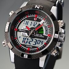 Shark Men's Alarm Chronograph LCD Digital Date Rubber Sport Wrist Watch Casual