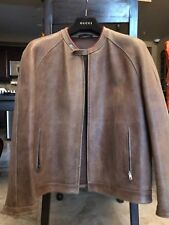 Gucci Mens Leather Jacket Custom Made Special Leather Limited Edition Size 54