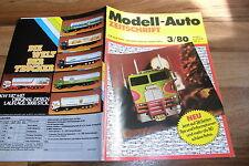 MODELL-AUTO 3/1980 - VW CABRIOLET 1949 / BUGATTI T 35 / Lloyd 500 / BÜSSING LU 7