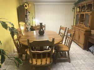 Tel City Dining Room Set - Hard Rock Maple 10 Pc Set