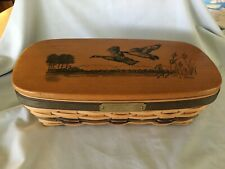 New listing 1997 Waterfowl Geese Delaware Heritage Collector Basket 1st Edition w/ Lid