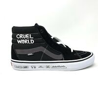 Vans Sk8 Hi Pro Cult Black White Men's 12 Skate Shoes New Cruel World