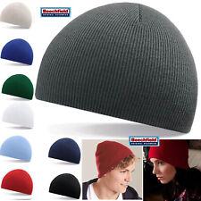 Beechfield Mens / Ladies Knitted Wooly Beanie Hat Warm Winter Ski Skull Cap