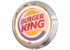 N-0273 Burger King - Deko Neon Uhr Clock Wanduhr Neonuhr Neonclock Werkstatt