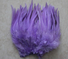 "100+ lavender 5-7"" saddle COQUE rooster Feathers for crafting weddings millinery"