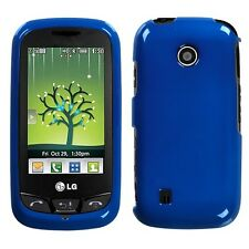 Metallic Blue Hard Case Cover for LG Cosmos Touch VN270