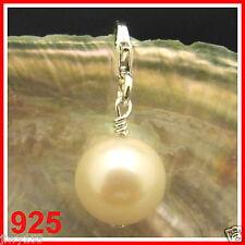925 AA REAL White PEARL Bead Fits European Charm Bracelet Australia Seller 153