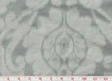 Blue Silk Linen Damask Upholstery Fabric American Silk Mills Manchuria Cl Mist