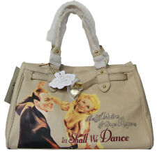 Borsa Fix Design pelle Shall we Dance donna beige bag fred astaire ginger rogers