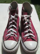 VTG Unisex Chuck Taylor CONVERSE Red Canvas Hi Top Trainers/Shoe Size 5.5