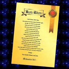 Geschenk beste Mama der Welt Eltern Papa Oma Opa Chef Freund Weihnachten Urkunde