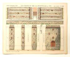 Pellerin Imagerie D'Epinal-No 432 Chateau de la Bastille 1789 Grande paper model