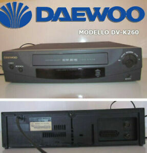 VIDEOREGISTRATORE VCR DAEWOO DV-K260 LETTORE VIDEOCASSETTE VHS