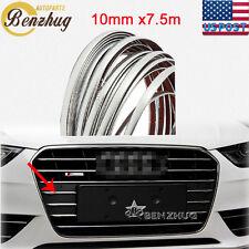 10mm x7.5m Car Chrome Molding Trim Strip Window Decoration Bumper Grille Covers