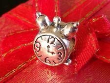 Charm Clock Bead Charm Fits European Charm Bracelets birthday  CH38