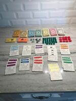 Vintage 1961 Monopoly Parker Brothers Game Replacement Pieces, Money & Houses