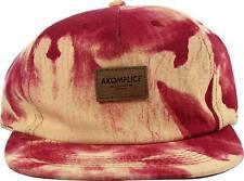 Akomplice A.O.C. STRAPBACK Peach Maroon Leather Strap Suede Box Logo Men's Hat