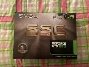 EVGA GTX 1060 6GB SSC Graphics Card - VR Ready, G-Sync compatible and more.