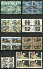 U.S. Regular issue stamps blocks of 4 - 8 issues - set #8
