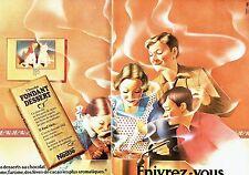 Publicité Advertising   1974  Chocolat fondant dessert Nestlé ( 2 pages)