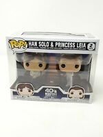 Funko POP! Star Wars Han Solo & Princess Leia (2-Pack) The Empire Strikes Back