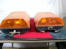 SET OF 2 ROOF LIGHTS FOR TOW TRUCK EMERGENCY VEHICLE ORANGE YELLOW