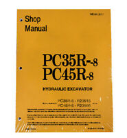 Komatsu PC35R-8 & PC45R-8 Workshop Repair Service Manual - Part # WEBD003000