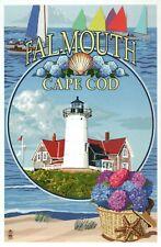 Falmouth Cape Cod Massachusetts Montage Nobska Light Lighthouse, Modern Postcard
