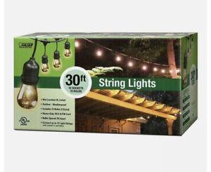 30 ft. 10-Socket Incandescent Ind & Outdoor String Light Set by Feit Electric