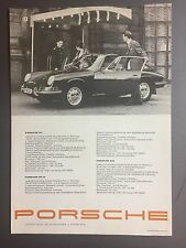 1967 Porsche 911, 911S, 912 Sheet, Brochure, Prospekt Swedish RARE! Awesome L@@K
