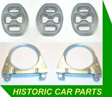 Exhaust HANGERS 7 CLAMPS for FIAT Cinquecento 1.1i Sporting 1995-98 Cat
