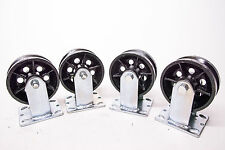 "5"" X 2 "" V-GROOVED STEEL WHEEL CASTER / SET OF 4 (900 LBS CAPACITY/EA)"