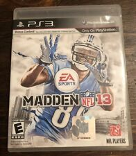 Madden 13 NFL PS3 Game Used Pre Owned