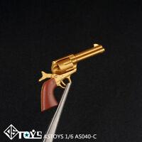 ASTOYS 1/6 Revolver Pistol Gun Weapon Model AS040 Fit 12'' Action Figure Body